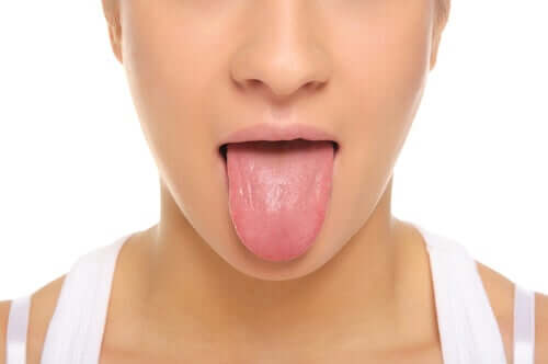 A woman with a clean tongue.