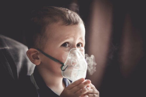 A child with cor pulmonale.