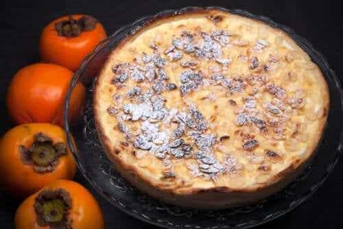 A Recipe for a Chocolate-Persimmon Custard Pie