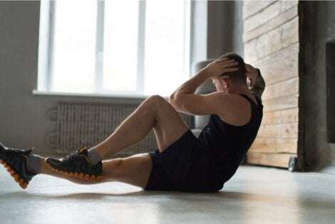 A man doing exercise.