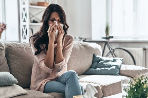 A woman with allergies.