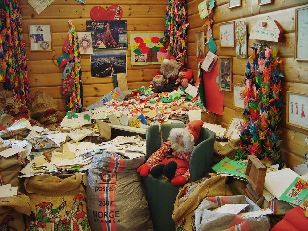 A very messy home.