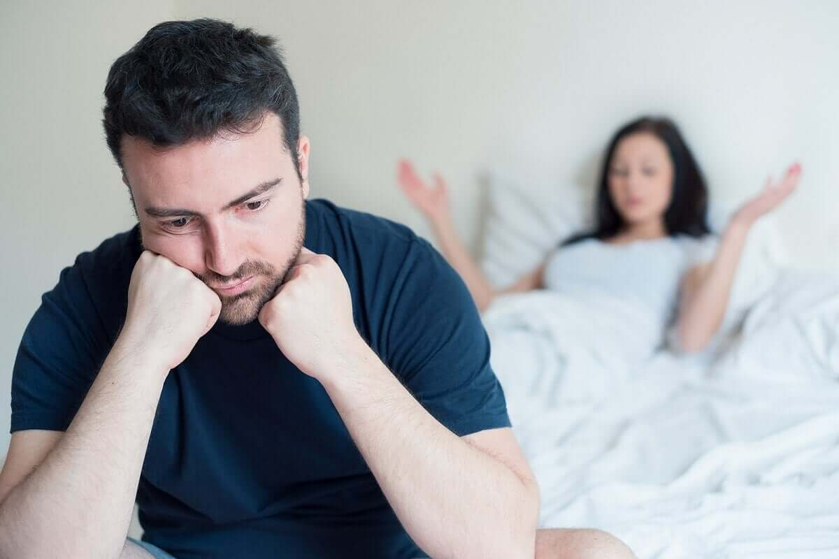 A couple suffering due to erectile dysfunction.