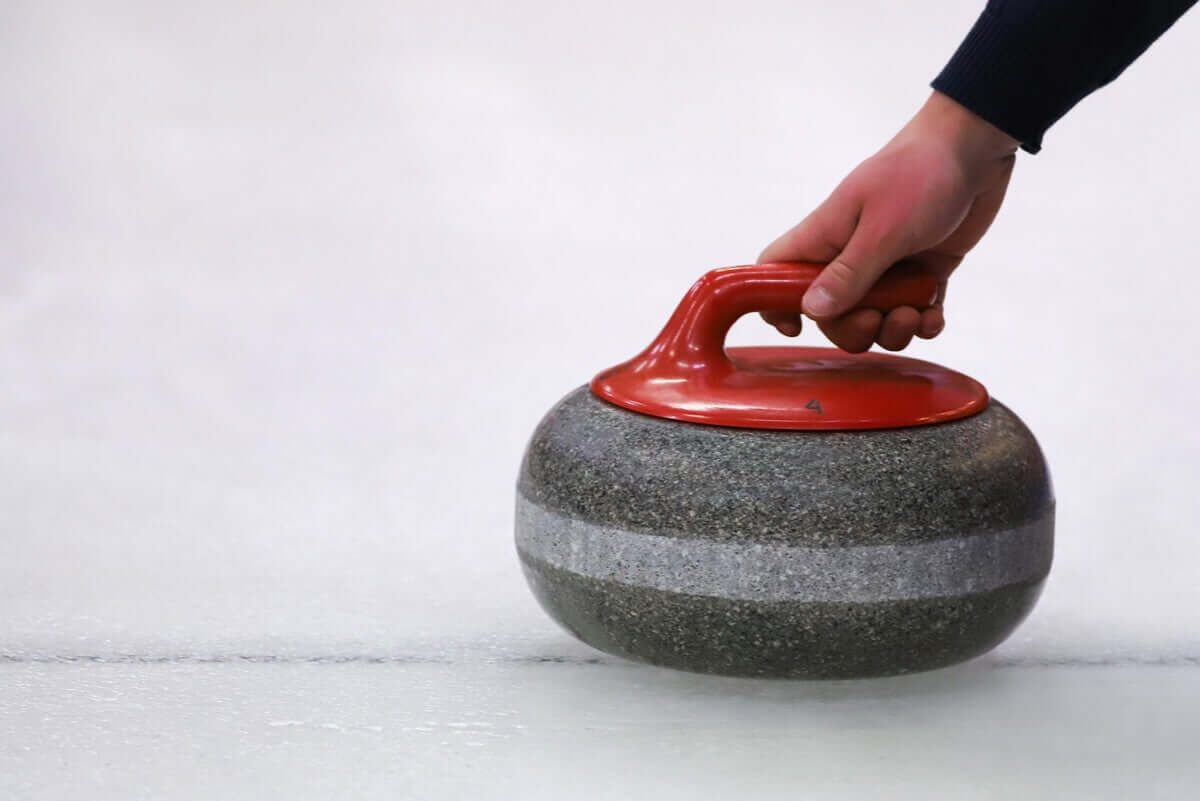 A curling stone.