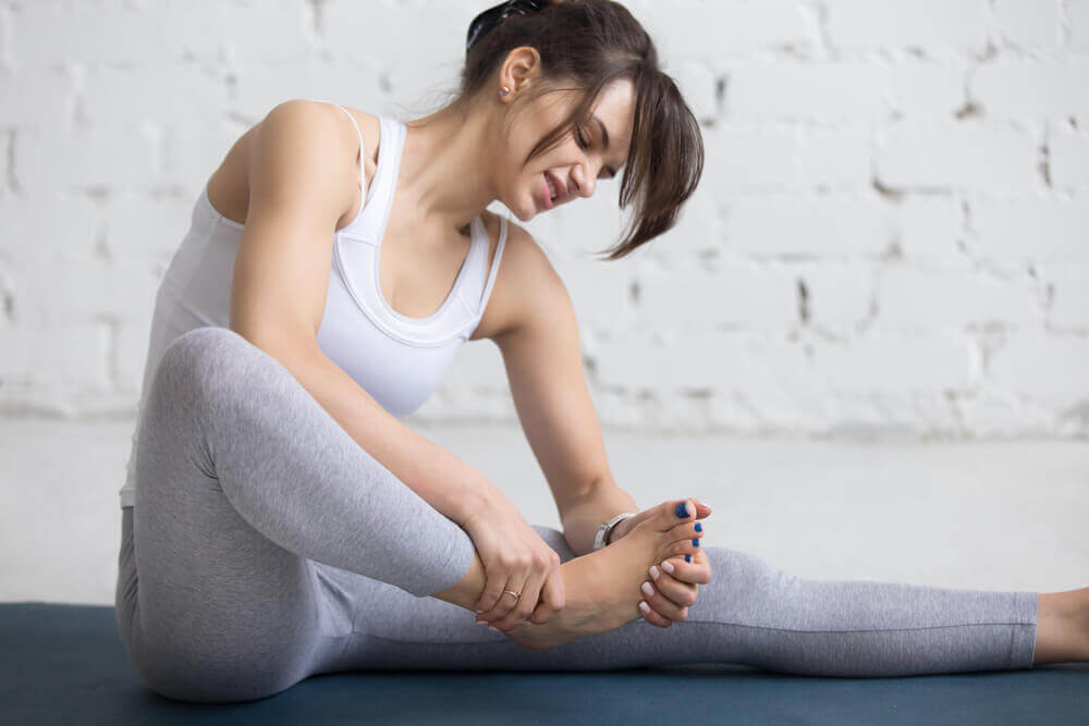 A woman with foot pain common in Morton's neuroma