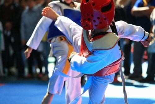 A Taekwondo match.