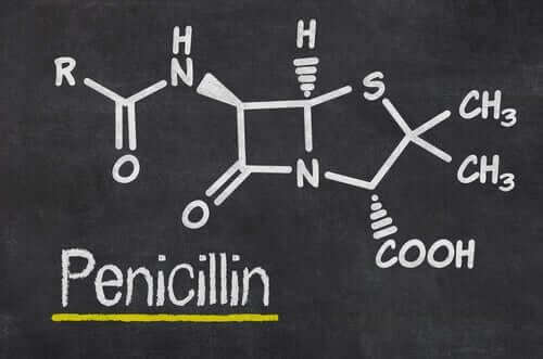 A formula for penicillin.