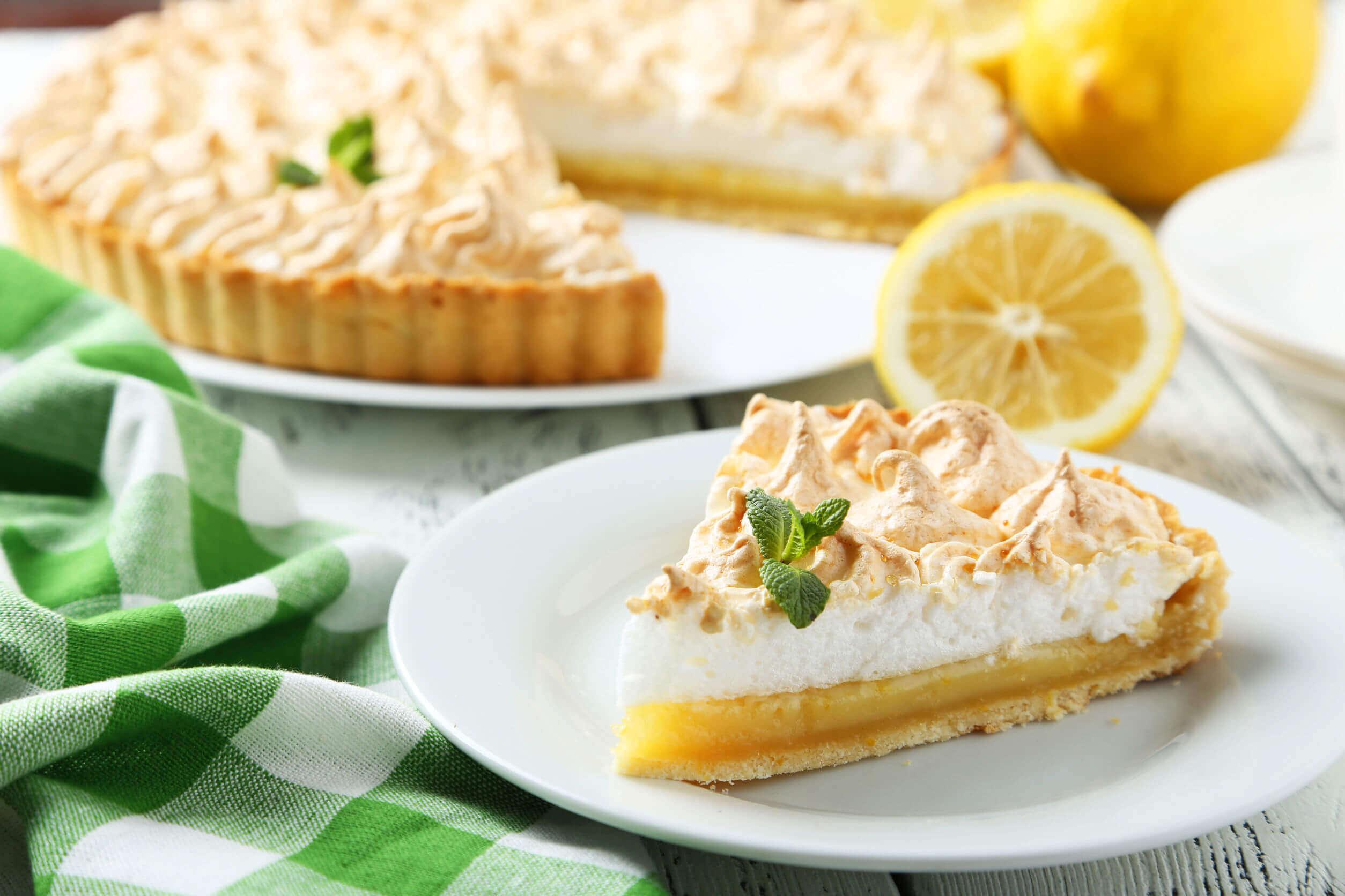 A slice of lemon pie.