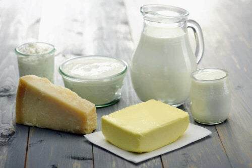 A variety of dairy.