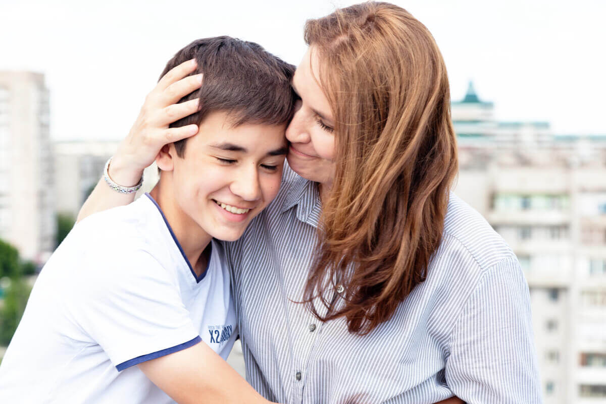 A woman and a boy