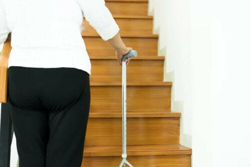 Canes can prevent falls in the elderly.