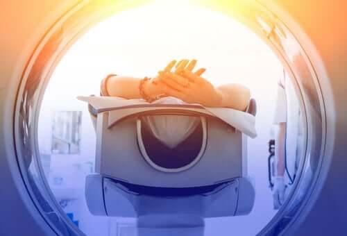 An MRI machine.