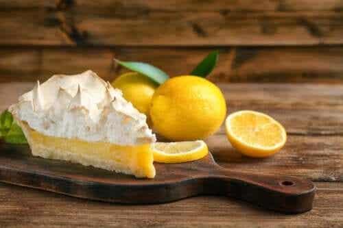 A Healthy Lemon Pie Dessert
