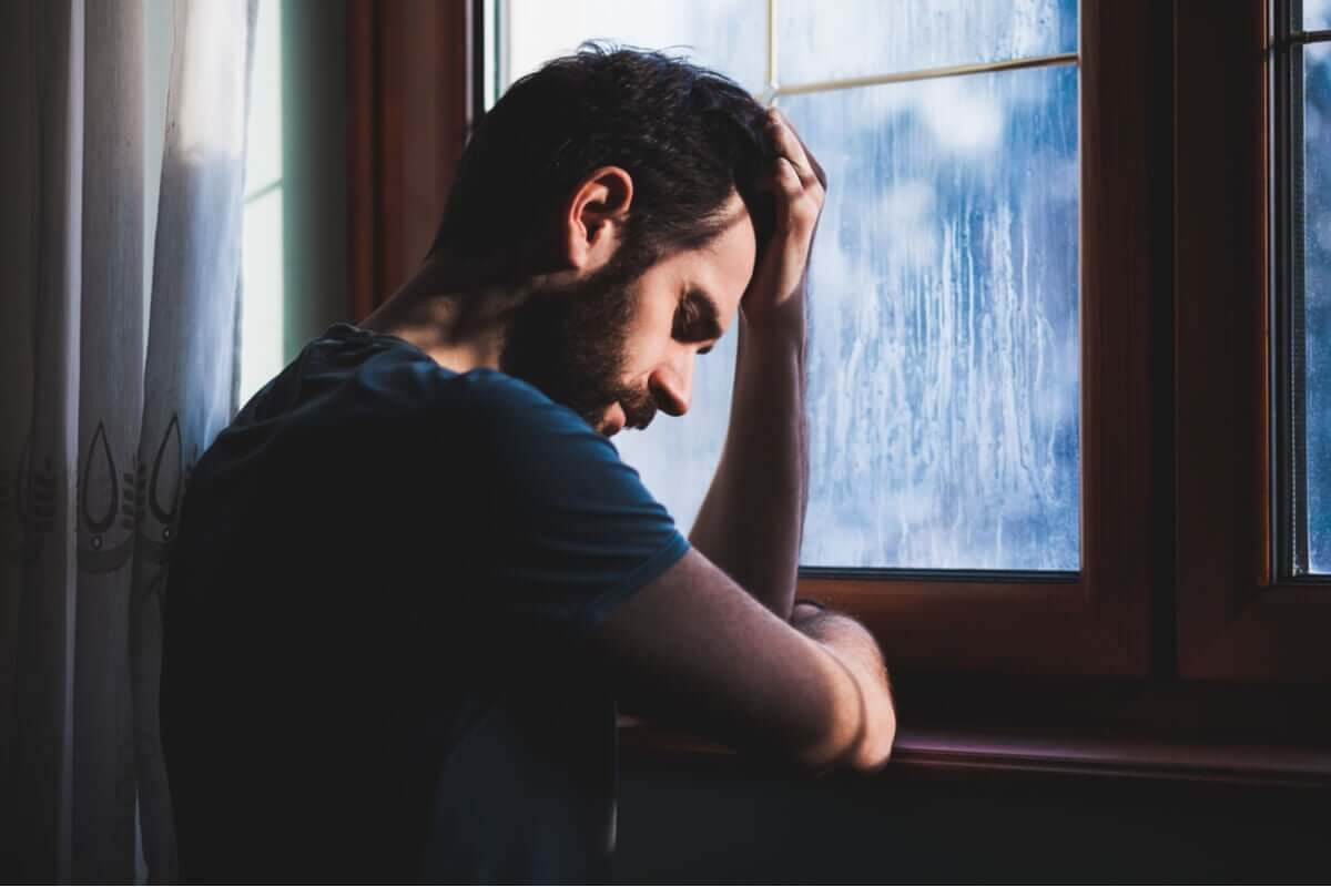 A mean feeling depressed.