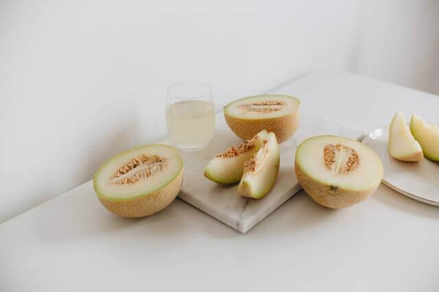 Melon slices.