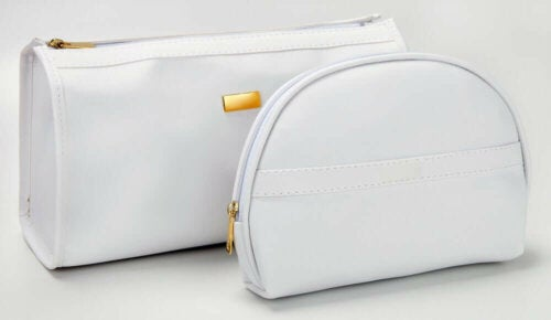 Two makeup bags.