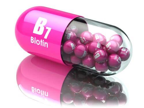A biotin vitamin.