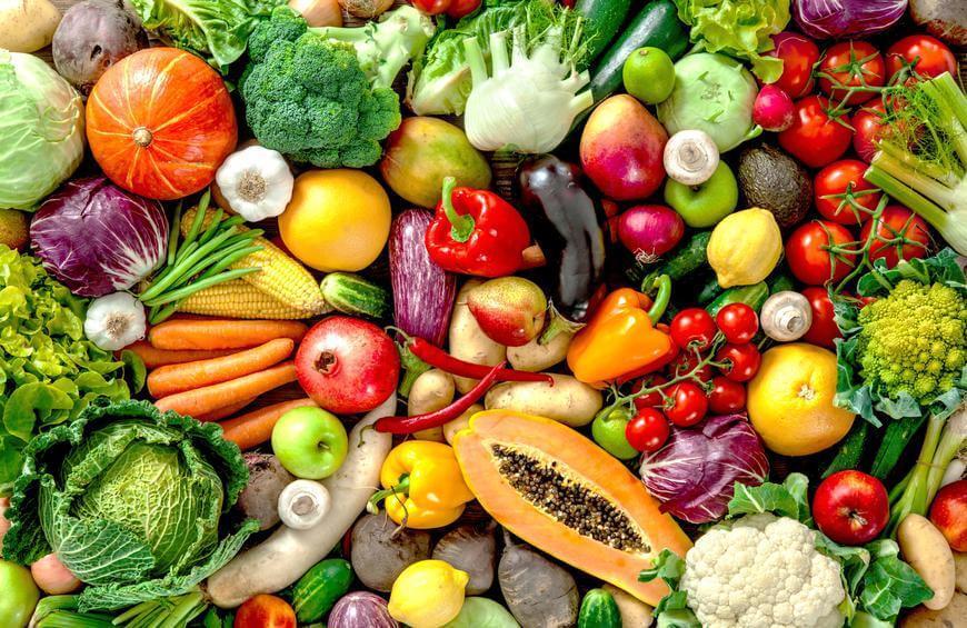 Fruits and veggies.