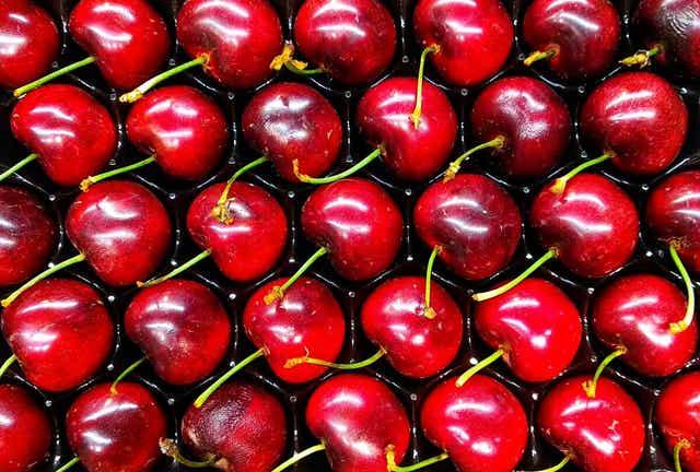 A box of cherries.