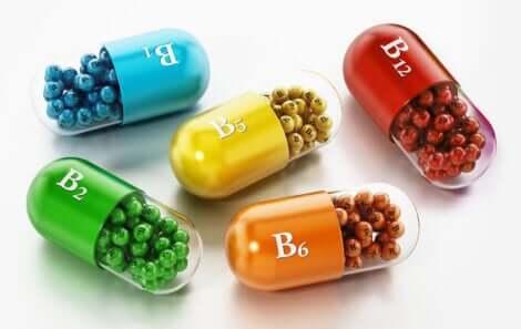 Vitamin B pills.