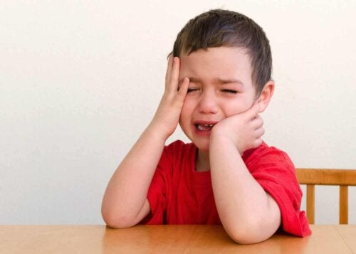 A child crying.