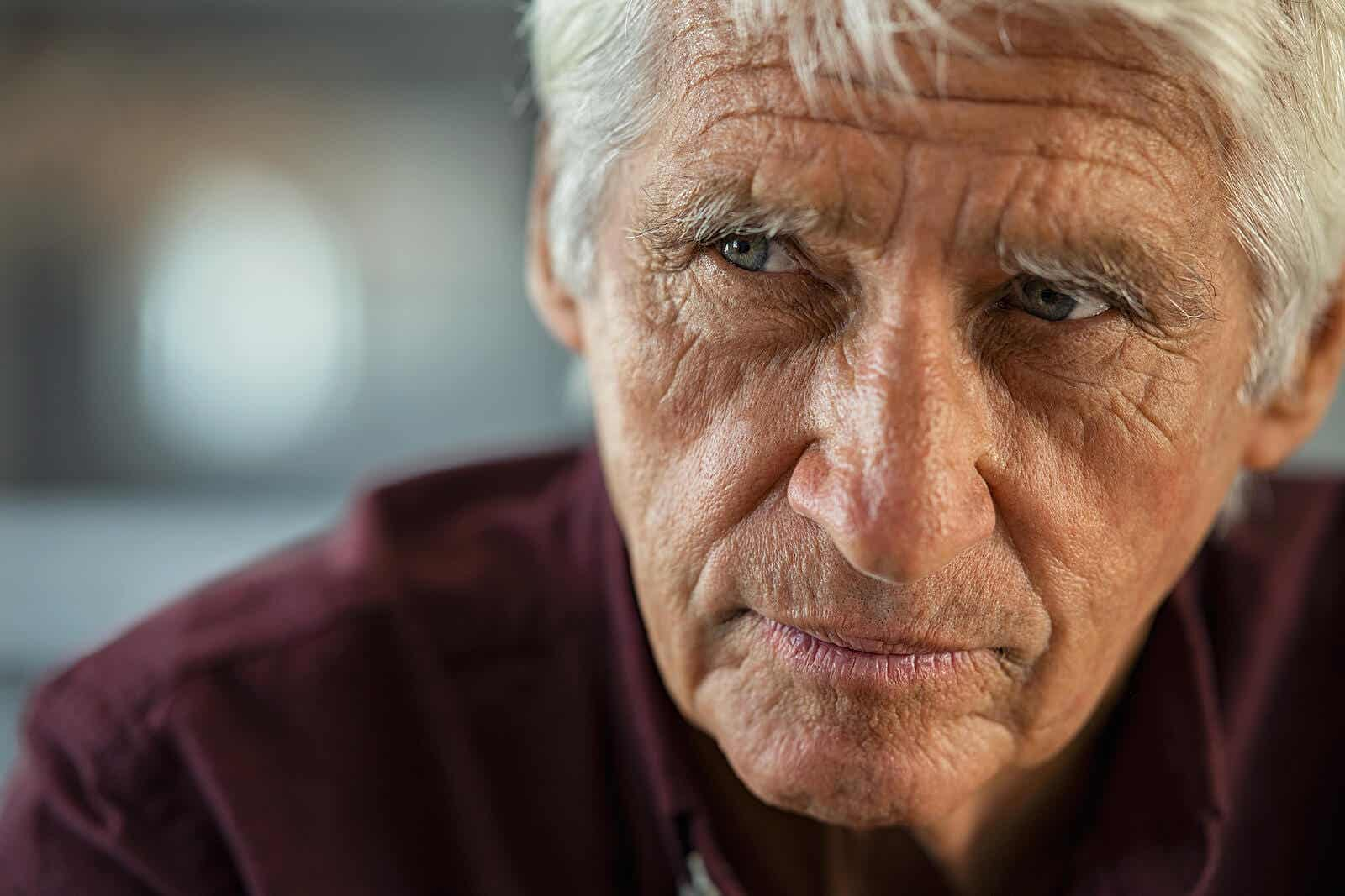 A man with Alzheimer's disease