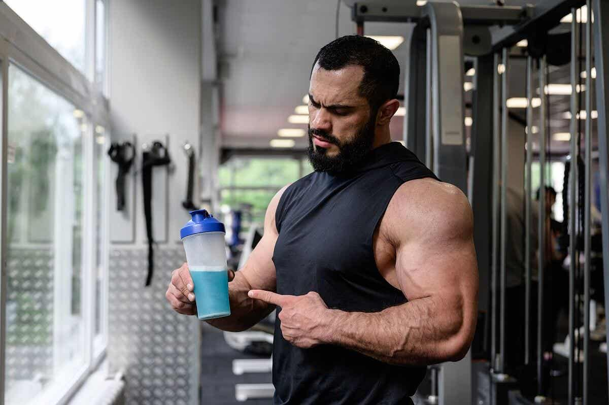 A man with a sports drink
