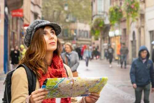 A woman who knows how to stay safe while traveling abroad.