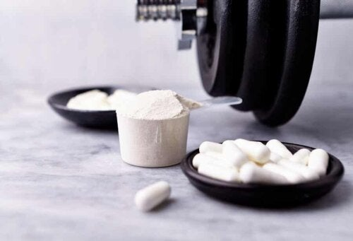 creatine supplements in an artistic photograph