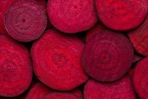 cut beets close up