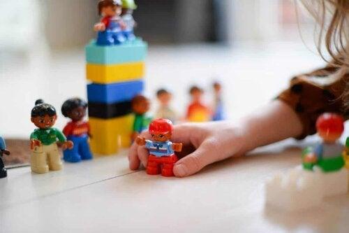 A child playing.