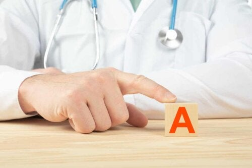 A doctor and the letter A.