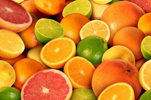 An array of citruses.