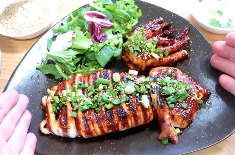 Garlic and Parsley Grilled Squid Recipe