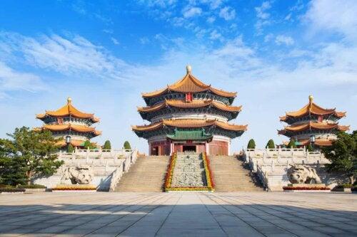 An Asian temple.