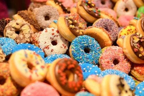 An assortment of doughnuts.