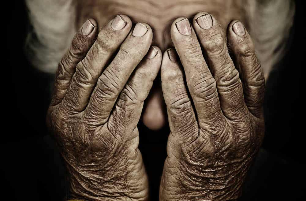 yaşlı bir insan