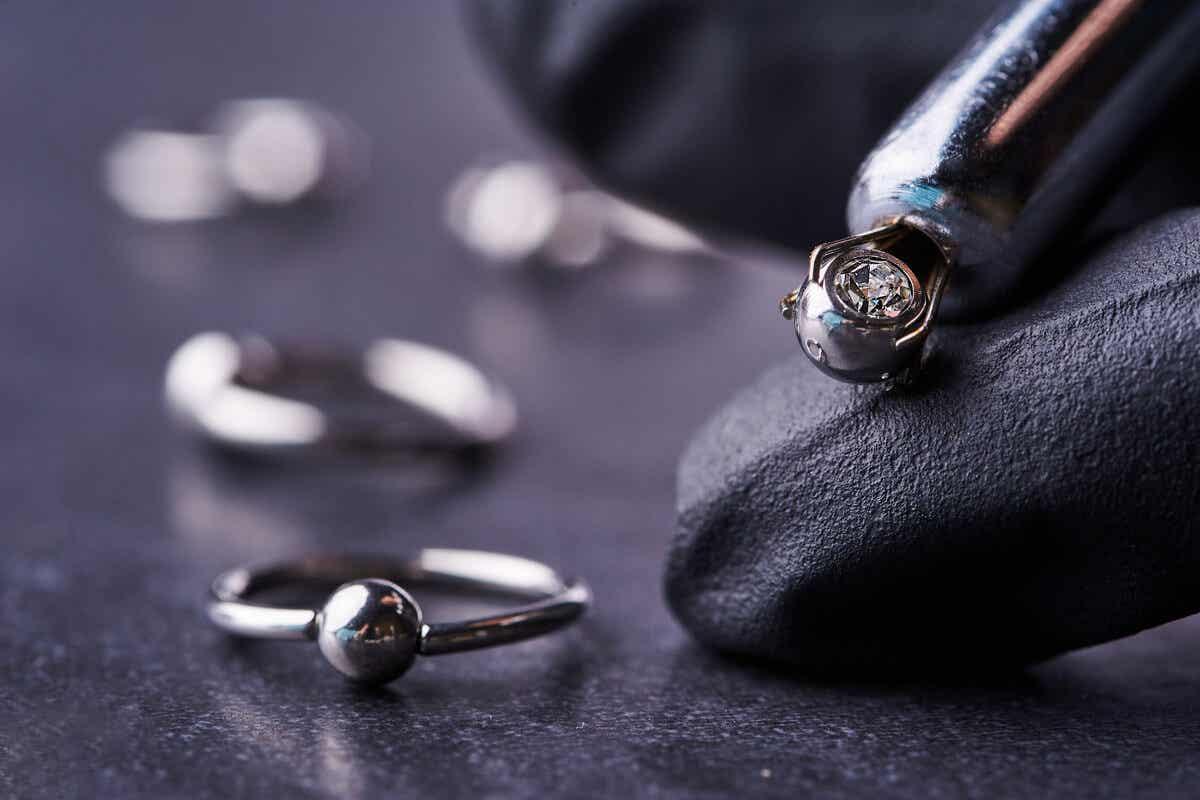 Piercing materials.