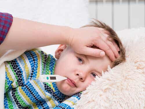 A toddler with a fever.