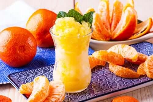 How to Make Tangerine Sorbet