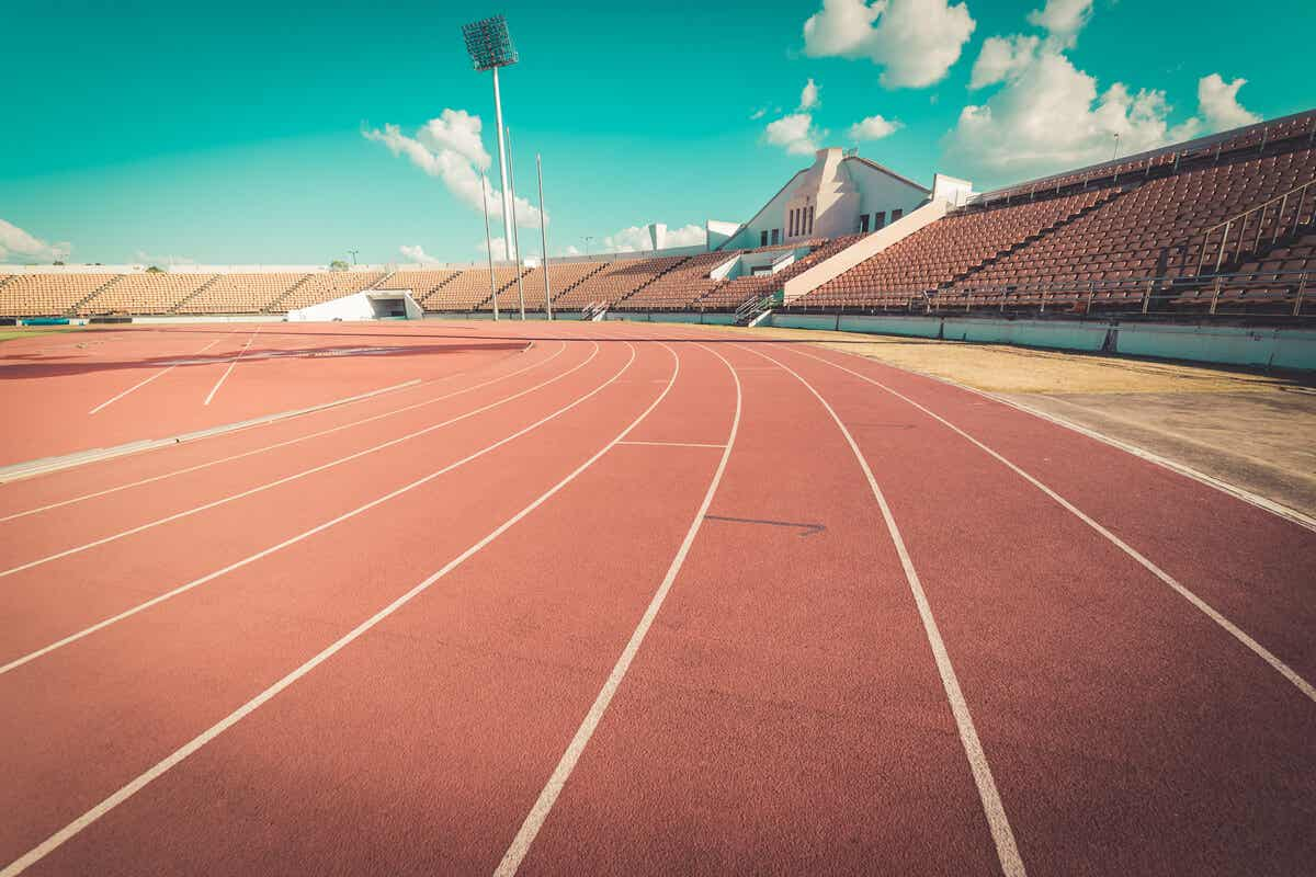 An empty track.
