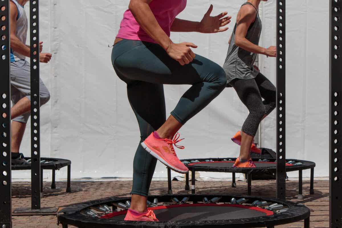 A trampoline class.