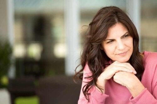 woman looking pensive