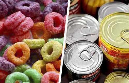 Sukkerrigt morgenmad og dåsemad